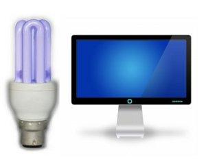 Europium digunakan untuk menghasilkan sinar biru, merah dan putih di monitor komputer dan layar televisi. Hal ini juga digunakan dalam lampu hemat energi.