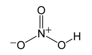 Struktur asam nitrat